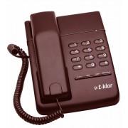 Telefone com fio T-Klar TK-500 Vinho, com chave, duas entradas para monofone lado direito e esquerdo