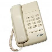 Telefone com fio T-Klar TK-500 Marfim, com chave, duas entradas para monofone lado direito e esquerdo