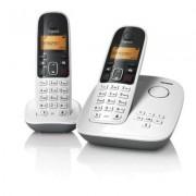 Telefone sem Fio Gigaset Siemens A495 DUO Branco - com Secretária Eletrônica, Id. Chamadas e Teclado Luminoso Ramal