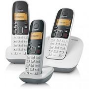 Telefone sem Fio com Identificador de Chamadas Ramal Siemens Gigaset A390 Trio Branco