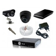 Kit CFTV Yub - DVR, 16 Câmeras Day Night, 16 Domi, HD 1 Tb, 300 metros de Cabo, Fonte, Conectores