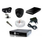 Kit CFTV Yub - DVR, 16 Câmeras Infra com 24 Leds, HD 1Tb, 300 metros de Cabo, Fonte, Conectores