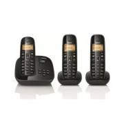 Telefone sem Fio DECT 6.0 Gigaset A495 Trio Preto