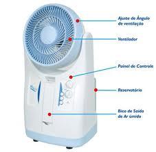 Umidificador, Climatizador e Ventilador 3 em 1 Elgin Fresh Breeze 220V ou 110V (c/ Transformador) - FBU-28 AZ-1