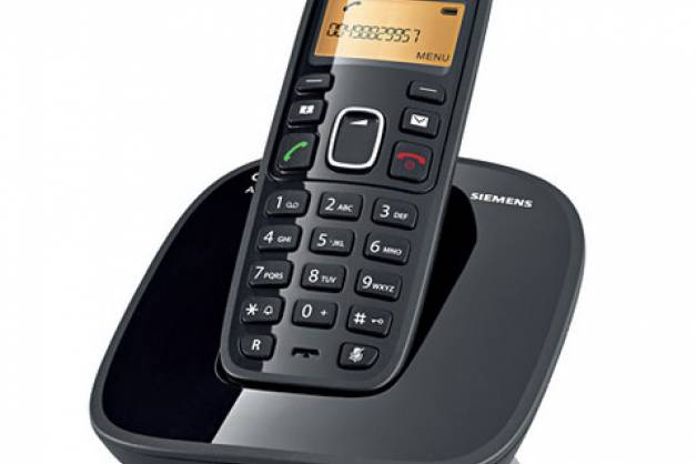 Telefone sem fio com Identificador de chamadas e Display luminoso - Siemens Gigaset A390 Preto