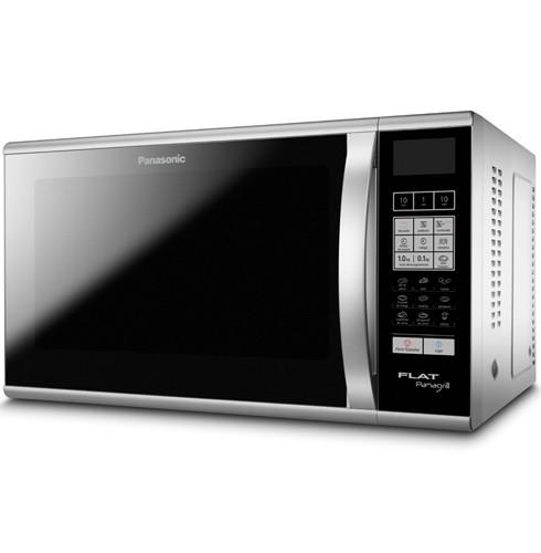 Forno de Micro-Ondas Flat 27L / 6 Níveis de Potência / Exclusivo Sistema Flat / Panagrill / Cinza Metálico - Panasonic - NNGF580MRU