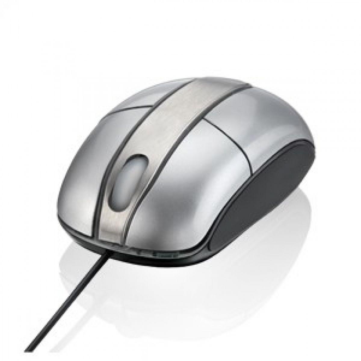 Mouse usb optico prata piano c/ ilumina��o Multilaser Steel USB MO135