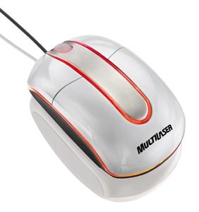 Mouse usb optico gelo piano com iluminação Multilaser Steel USB MO134
