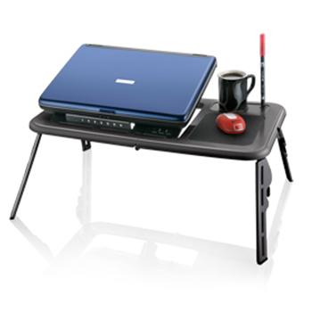 Mesa Suporte Ergonômico Ajustável Portátil Multilaser com Cooler duplo para notebook multiuso Multilaser AC112