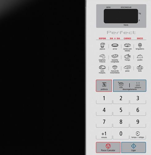 Microondas Panasonic 28L Branco - NN-ST571WRU + GRÁTIS Suporte p/ Microondas Brasforma SBR3.5 110V