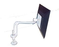 (FORA DE LINHA) Suporte de Mesa Articulado para Monitor  Multivisão LCD Flex Slim PC Branco