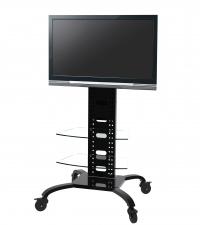 Rack Brasforma SBRR0.2 para TV LCD LED PLASMA 3D 37´ a 60´ Com Rodas, Ideal para salas, escritórios e apresentações