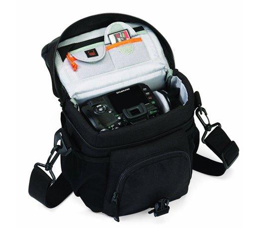 Bolsa p/ Câmera Digital Profissional, Amadora e Acessórios Lowepro - Nova 140AW - LP35244