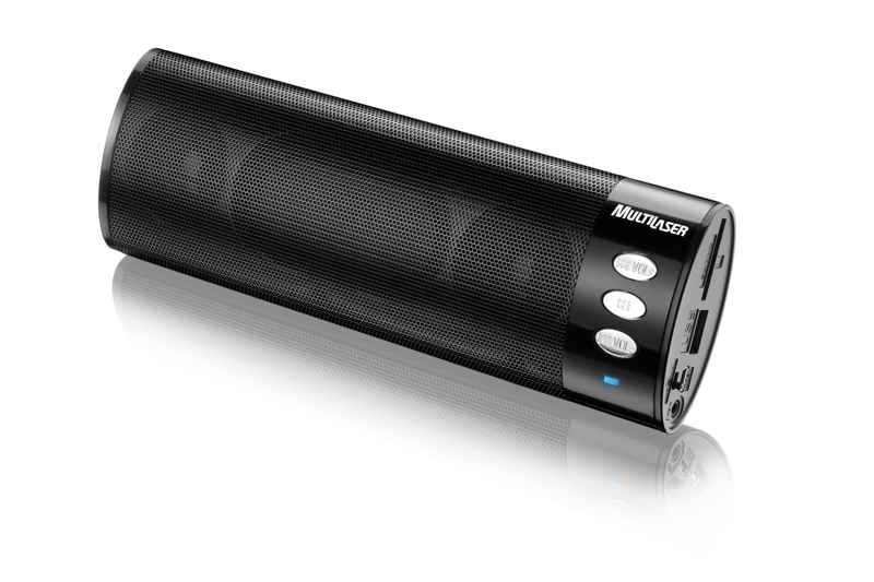 Caixa de Som portatil FM/USB/MP3/SD/AUX 10W RMS subwoofer integrado music tube SP109 Multilaser