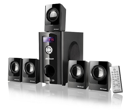 Home Theater Multilaser Black Wave SP110 - 2.1/5.1, 80W RMS, Rádio FM, c/ USB bivolt