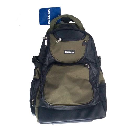 Mochila Trip para laptop com carrinho preto/verde Multilaser BO0023PVML