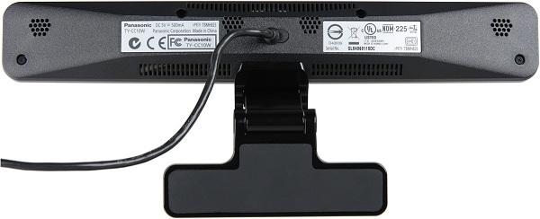 Câmera de Comunicação PANASONIC VIERA - TY-CC10W - para Captura de imagens em alta definição, 4 microfones unidirecionais com grande captação, Design moderno e arrojado