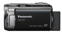 FILMADORA Panasonic - SDR-H101PU-K - HDD 80 Gb, 1 CCD, 78 X Zoom, Estabilizador óptico de imagem, Modo IA, Iluminação