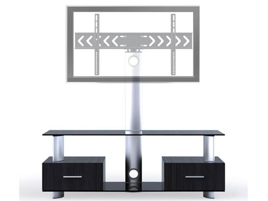 Rack de chão para TVs lcd/plasma/led em vidro e madeira LK-2 - Brasforma