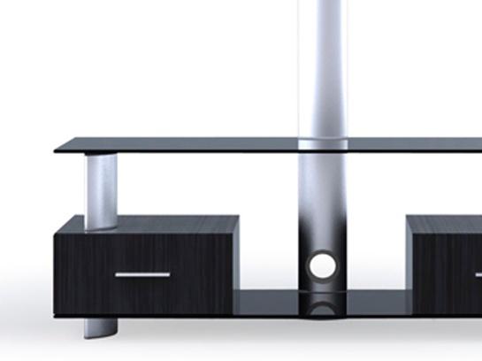 Rack de ch�o para TVs lcd/plasma/led em vidro e madeira LK-2 - Brasforma