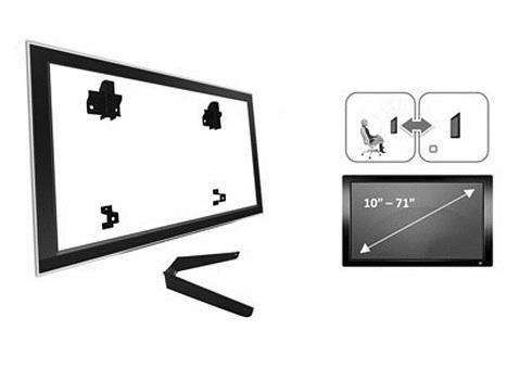 Suporte para TV LCD ou Plasma 10´ à 71´ SBRU771 + suporte dvd - Brasforma
