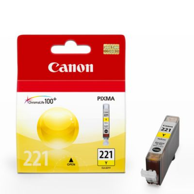 Cartucho de tinta Canon Elgin CLI-221 Y iP 3600 4600 4700 / MP 540 560