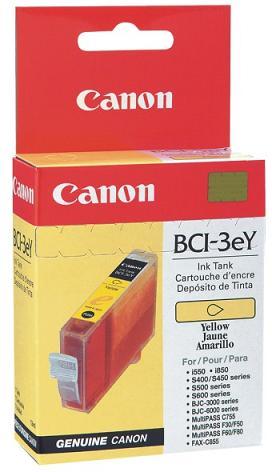 Cartucho de tinta Canon Elgin BCI-3e Y S500/S520/S530D/i550, S600/S630/S750/i850