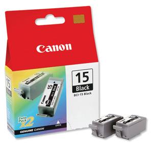 Cartucho de tinta Canon Elgin BCI-15 bk ( Caixa c/2 unidades ) i70 i80 iP90 iP90v