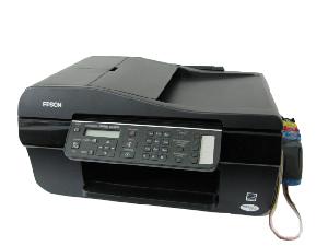 Multifuncional Epson TX300F + Bulk Ink Instalado + 400ML de tinta - Impressora, Scanner, Copiadora, Fax