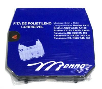 Fita Polietileno Corrigível P/ Máquina De Escrever Brother Ax 10/ Ax 325/ Panasonic Kxr 20 Compatível Menno Gráfica (Cód.: MB/01)