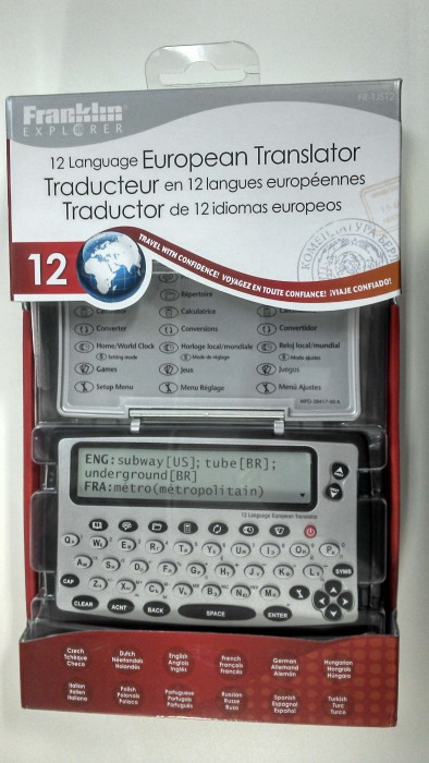 Tradutor Eletrônico Franklin FR-TJS12 - 12 línguas, Hora mundial