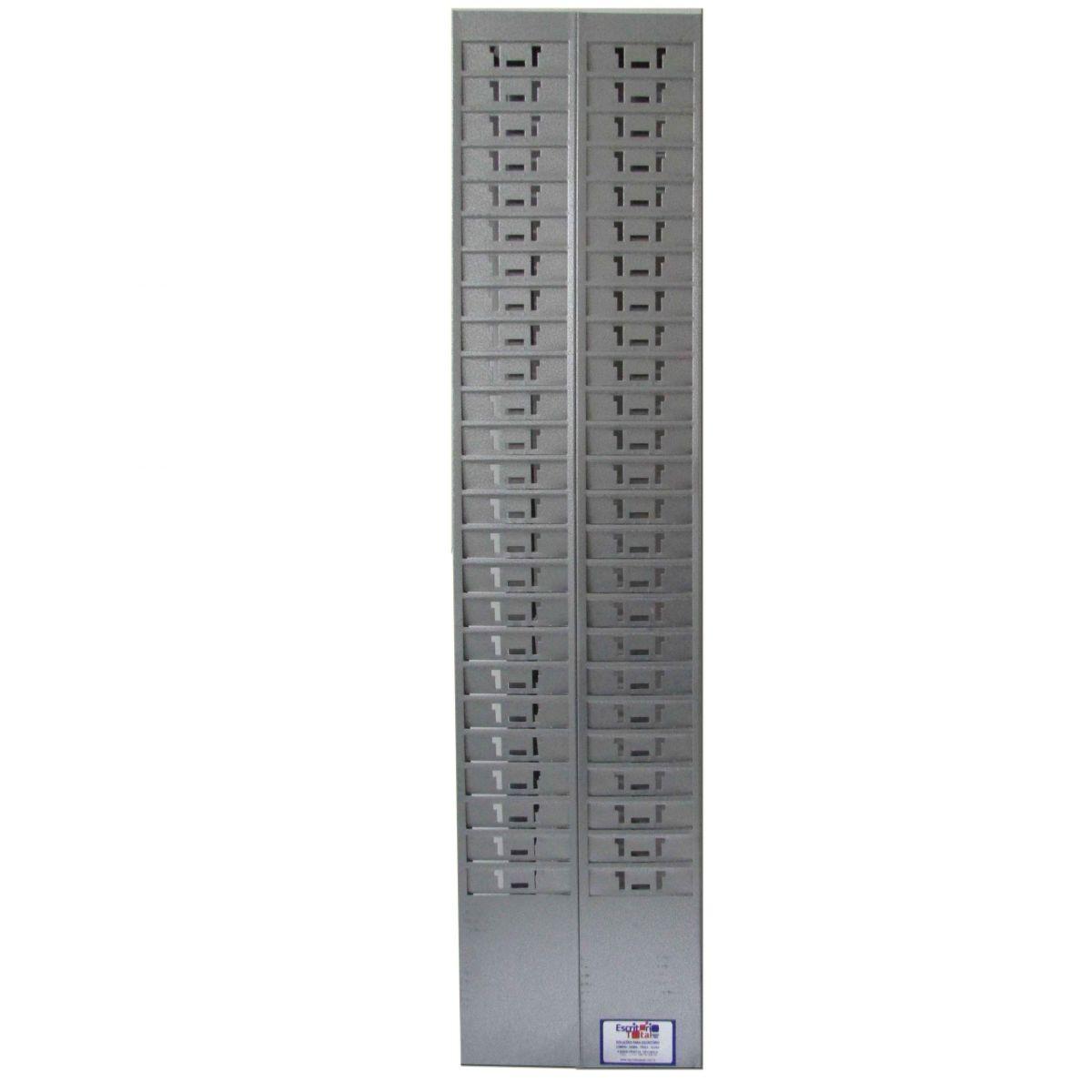 Chapeira para relógio de ponto cartográfico Escritório Total - 50 posições, metal pintura epoxi