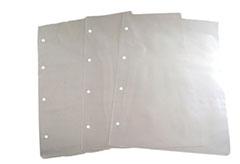 Saco Plástico Micro-perfurado p/ Pão (alça boca de palhaço) 40 x 50 cm, espessura 0,25 branco