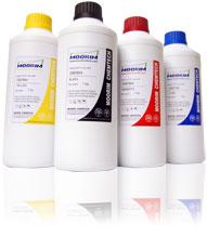 Kit 4 Kg de Tintas Recarga Moorim HDink Epson Unifill Dye 1 preta, 1 magenta, 1 ciano e 1 amarelo