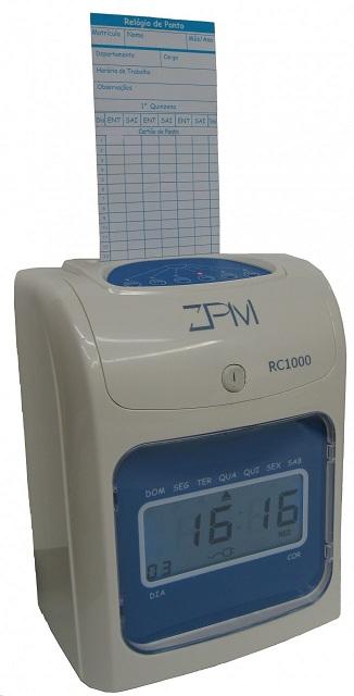 Relogio de Ponto ZPM/URANO RC1000 Cartografico para registrar cartoes de ponto, muito pratico dispensa a utilizacao de c