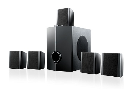 Home Theater Multilaser Super Bass SP087 - 2.1/5.1, 40W RMS