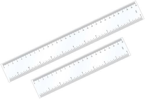 Regua pvc Cristal 30 cm 10 unidades MENNO 4691