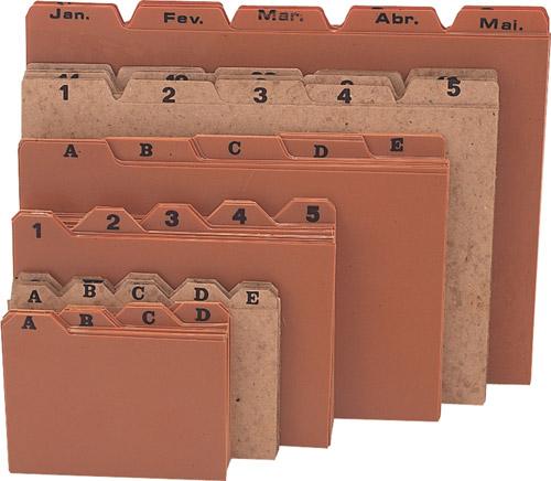 Indice de cartolina 7x10 A/Z Menno 3020