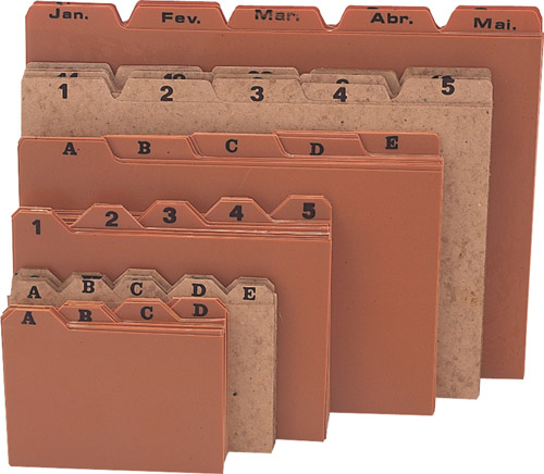 Indice de cartolina c/ endereco Meses Menno 3059