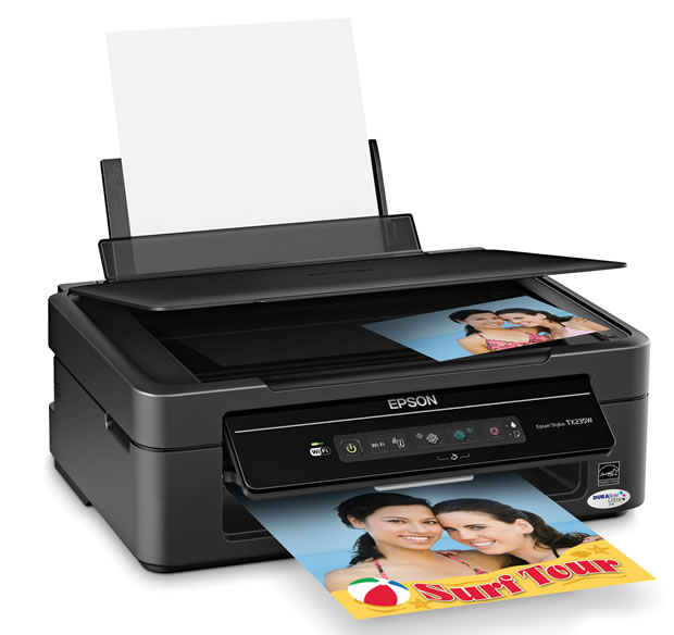 Multifuncional Jato de Tinta Color Stylus TX235W Wireless, Impressora, Scanner, Copiadora   Bulk-ink Instalado - Disponi