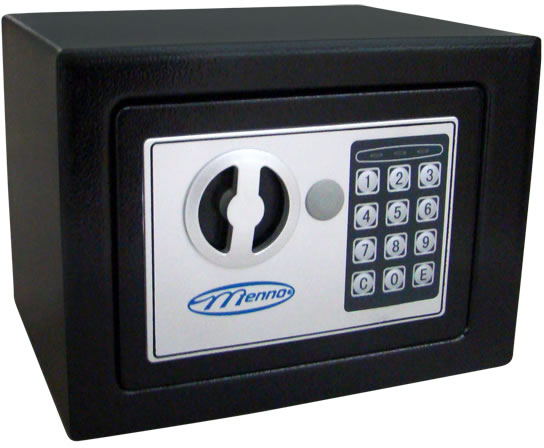 Cofre Eletronico Menno 17E, Dimensoes Externas: A170mm P170mm L230mm Dimensoes Internas: A165mm P125mm L228mm