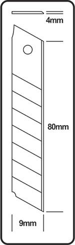 Estilete 9mm - Cavia (unitário) ACU116