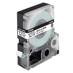 Cartucho de Fita LC-4WBN9 ou LK-4WBN p/ Rotulador Epson - 12mm / Preto no Branco