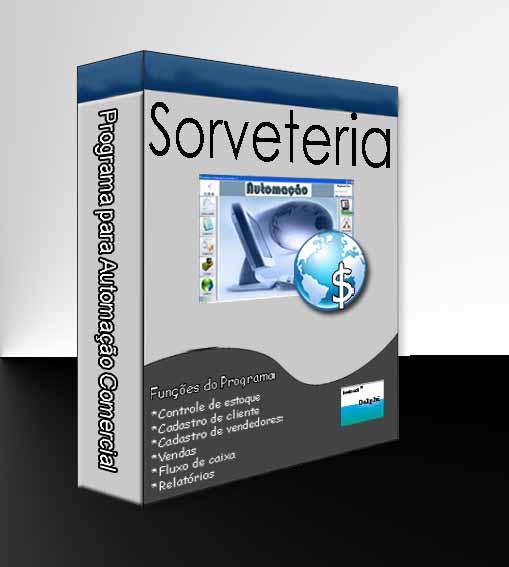 Combo para Automação Comercial Não Fiscal: Programa para Sorveteria + Leitor de Código de Barras + Impressora Matricial + Gaveteiro