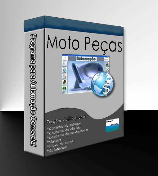 Combo para Automação Comercial Não Fiscal: Programa para loja de Moto Peças + Leitor de Código de Barras + Impressora Matricial + Gaveteiro