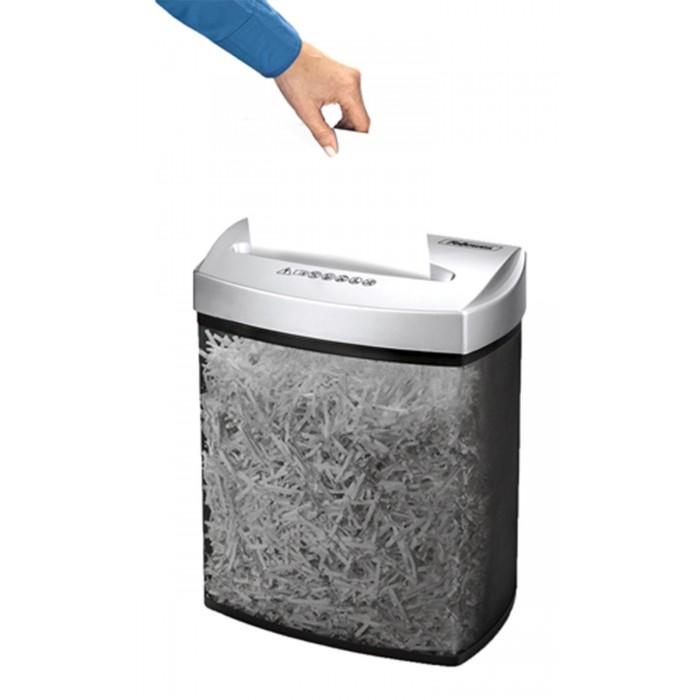 Fragmentadora de papel Fellowes P70CM 110V corta grampos, cartões de crédito, até 7 folhas, corte cruzado de 4x46mm, fenda de 230mm, cesto 17lts, ruído 70dB