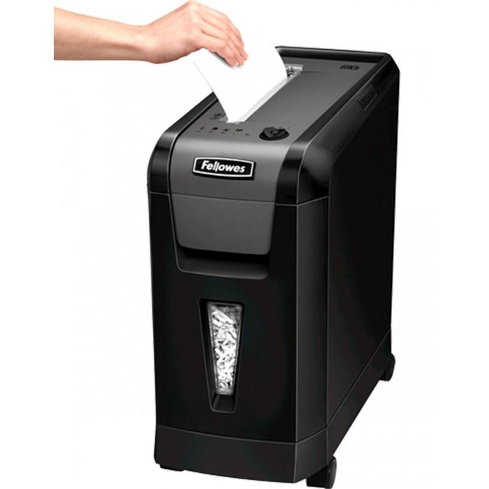 Fragmentadora de papel Fellowes PS-69Cb (110V) - corta grampos, cartões de crédito, clipes de papel, até 10 folhas, cross cut de 4x50mm, fenda 230mm, cesto 19lts, ruído 58dB