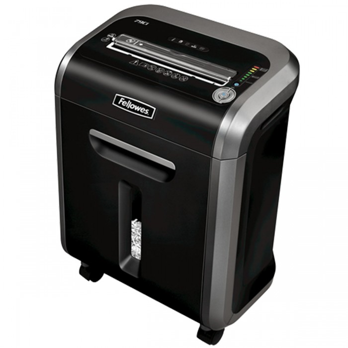Fragmentadora Fellowes 79Ci (110V) - corta grampos, cart�es de cr�dito, clipes de papel, cds, dvds, at� 14 folhas, cross cut de 3,9x38mm, fenda 230mm, cesto 23lts, ru�do 58dB