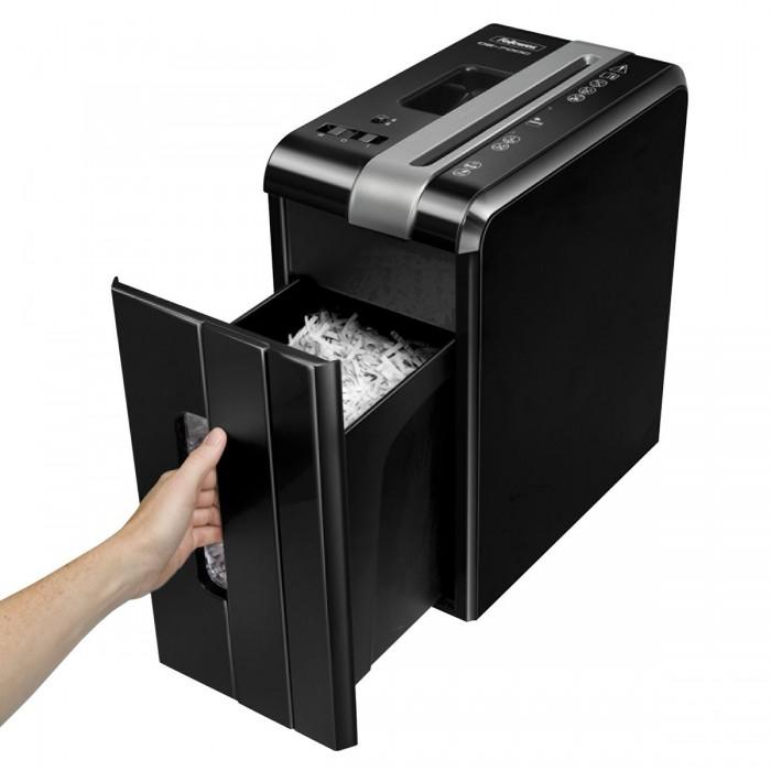 Fragmentadora Fellowes DS700C (110V) - corta grampos, cartões de crédito, clipes de papel, até 7 folhas, corte cruzado 4x46mm, fenda 225mm, cesto 10lts, ruído 70dB