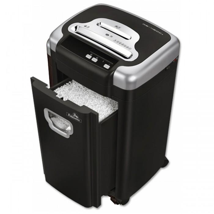 Fragmentadora Fellowes MS-460Cs (110V) - corta grampos, cartões de crédito, até 10 folhas, corte micro shred 2x8mm, fenda 230mm, cesto 28lts, ruído 44dB